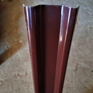 Штакетник Шоколадно-коричневый метал. (высота 1,25м)