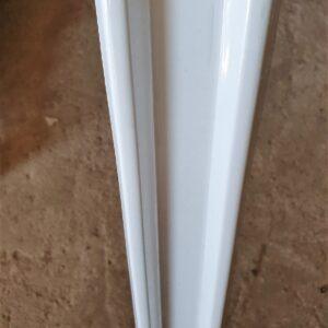 Штакетник Белый метал. (высота 1,25м)