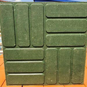 Плитка тротуарная зеленая (330х330 мм)