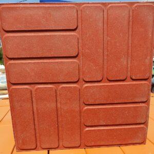 Плитка тротуарная красная (330х330 мм)