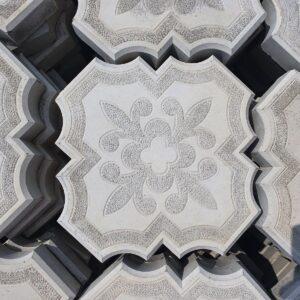 Плитка тротуарная бетонная серая (300х300 мм)