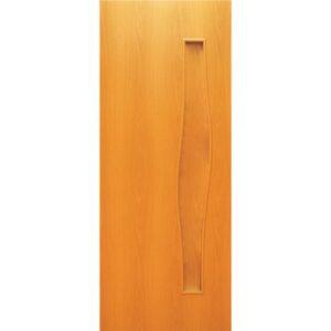 Дверь ламинированная тип 5 (волна) миланский орех глухая