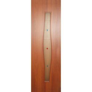 Дверь ламинированная тип 5 (волна) итальянский орех стекло