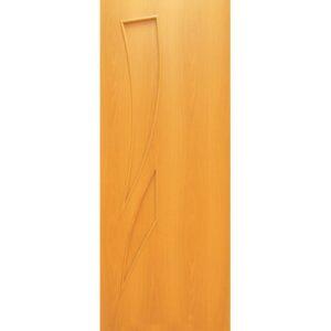 Дверь ламинированная тип Стрелиция миланский орех глухая