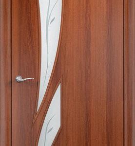 Дверь ламинированная тип Стрелиция итальянский орех стекло